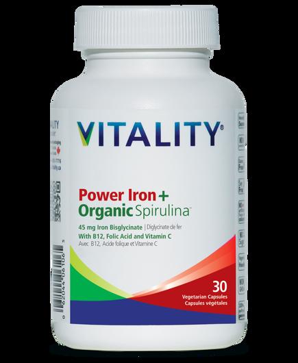 Vitality Power Iron+Organic Spirulina 30 Tablets