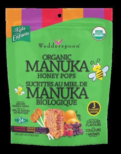 Wedderspoon Organic Manuka Honey Pops Variety Pack 120 g