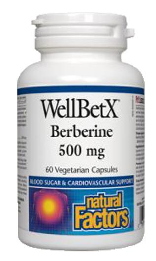 Natural Factors WellBetX Berberine 500 mg 120 Veg Capsules