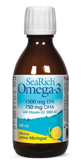 SeaRich Omega 3 With Vitamin D3 Lemon Meringue 200 ml