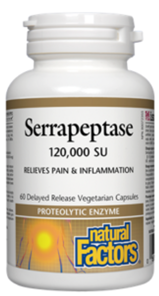Natural Factors Serrapeptase 120,000 SU 60 Veg Capsules