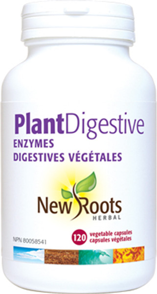 New Roots Plant Digestive Enzymes 375 mg 120 Veg Capsules