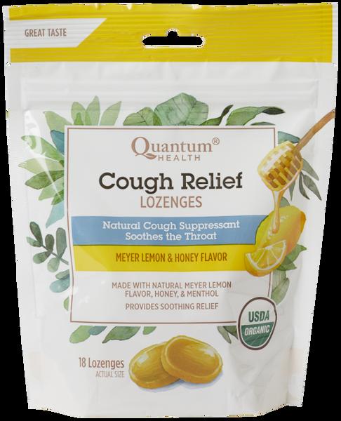 Quantum Health Cough Relief Organic Meyer Lemon Flavor 18 Lozenges