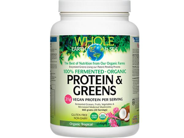 Whole Earth & Sea Fermented Organic Protein & Greens Tropical 600 g