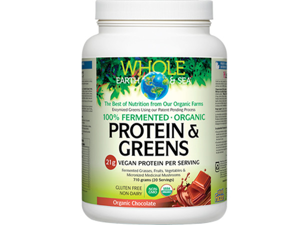 Whole Earth & Sea Fermented Organic Protein & Greens Chocolate 710 g