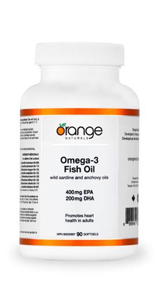 Orange Naturals Omega-3 Fish Oil 400/200mg 90 Softgels