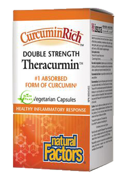 Natural Factors CurcuminRich Theracurmin Double Strength 60 Veg Capsules