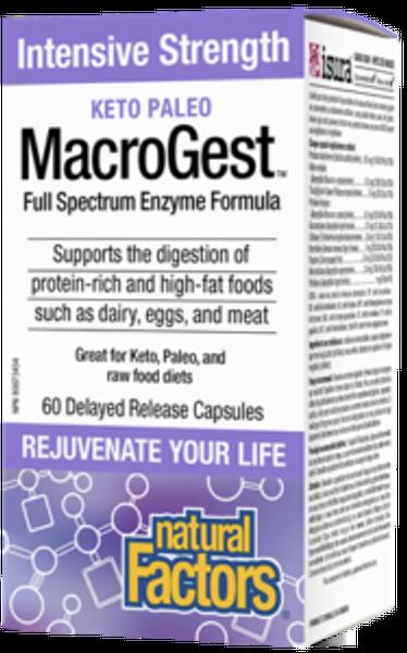 Natural Factors Keto Paleo MacroGest Intensive Strength 60 Capsules