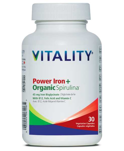 Vitality Power Iron+Organic Spirulina 30 Tablets