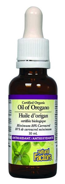 Natural Factors Organic Oil of Oregano 30 ml