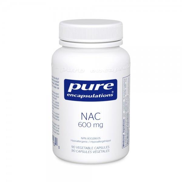 Pure Encapsulations NAC (N Acetyl-l-Cysteine) 600 mg - 90 Veg Capsules
