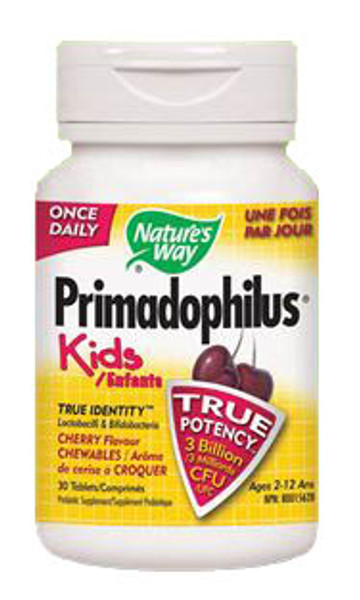 Nature's Way Primadophilus Kids Chewable Cherry 30 Tablets