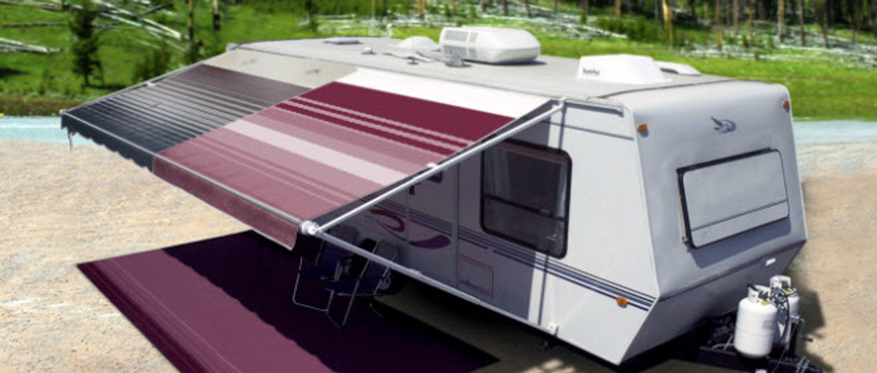 Replacement Premium Vinyl Awning Fabric With 10 Year Warranty