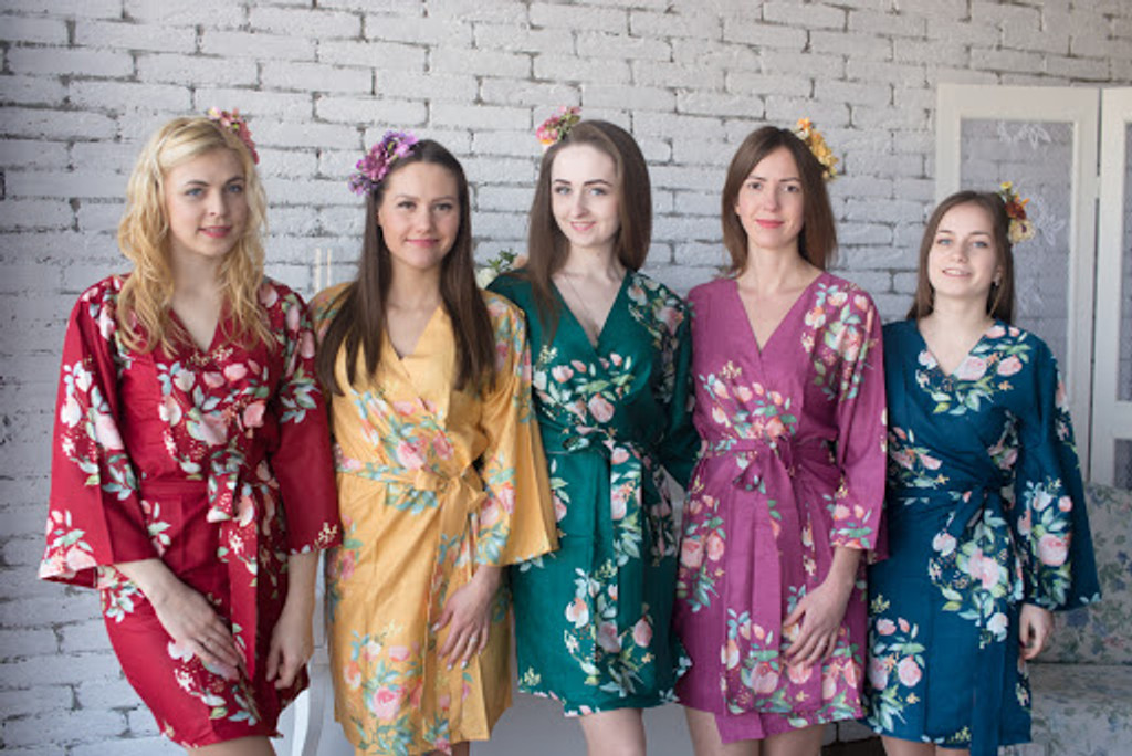 Dreamy Angel Song Pattern - Premium Bridesmaids Robes
