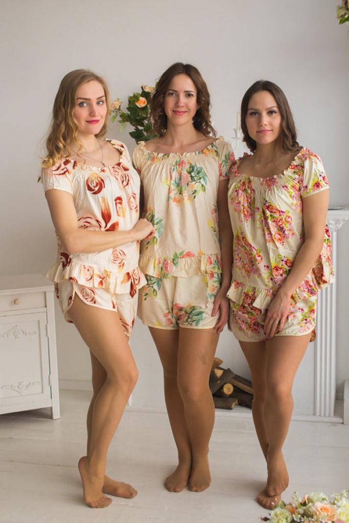 Nude wedding color pjs in off shoulder style junglespirit Gallery
