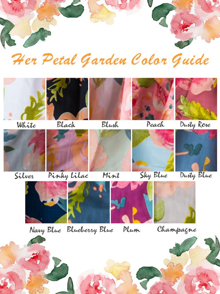 Ruffled Style PJs in Her Petal Garden Pattern