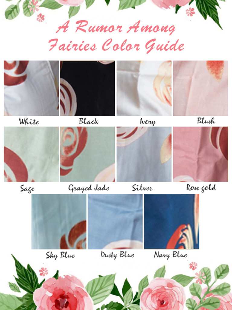 A umor among fairies color guide