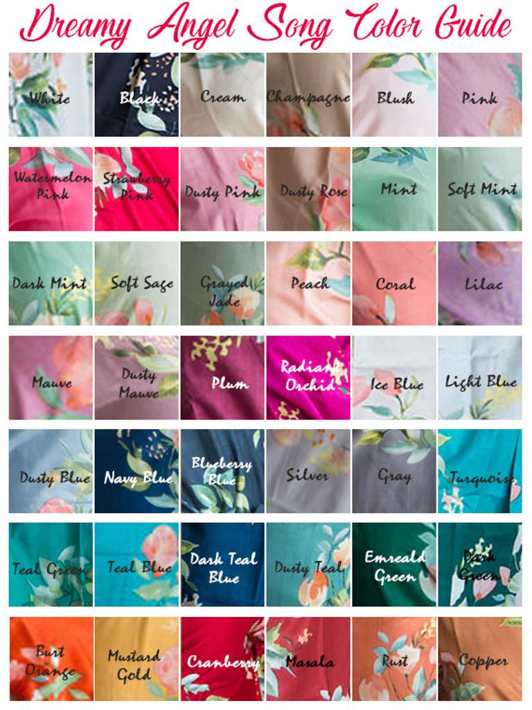 Dreamy Angel Song Pattern- Premium Emerald Green Bridesmaids Robes