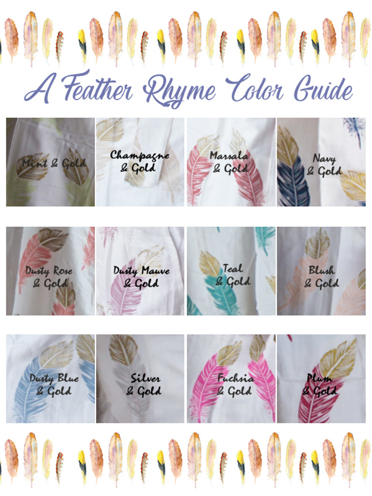 feather rhyme gold color swatch
