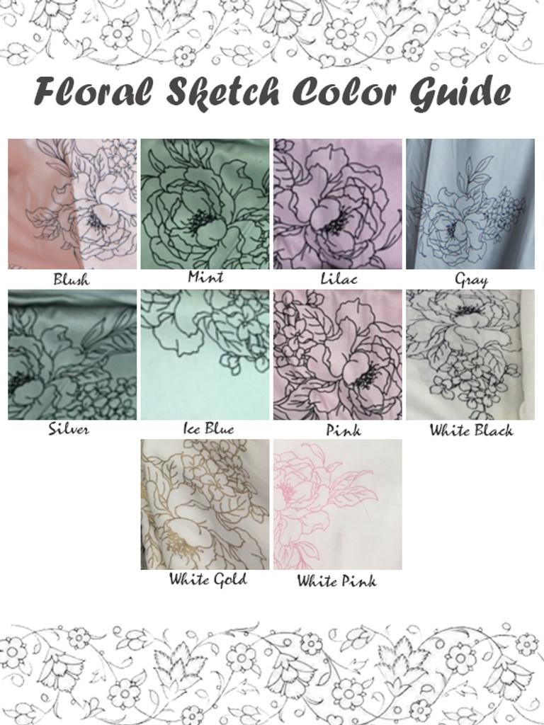 Floral Sketch Color Guide