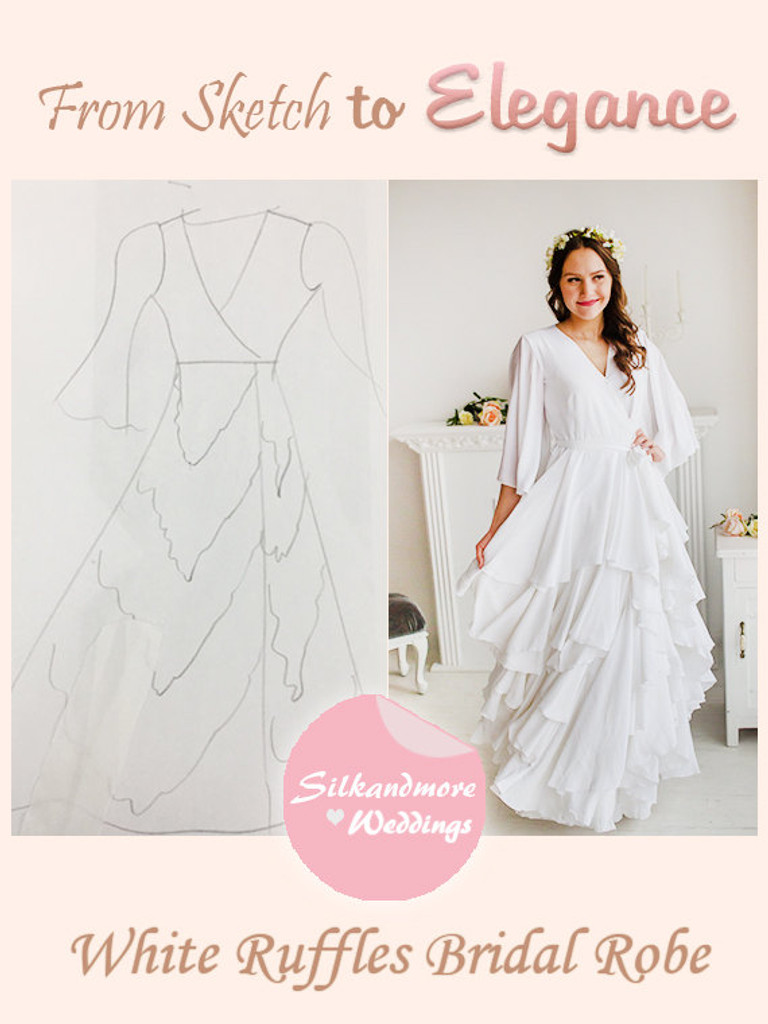 Bridal Robe from my Paris Inspirations Collection - Naughty Ruffles in White