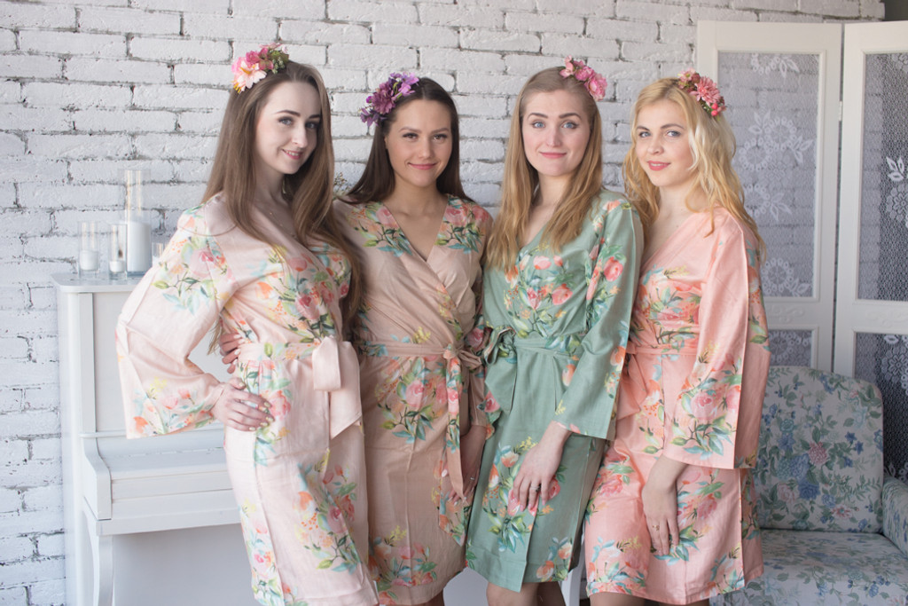 Blush, Peach and Sage Wedding Colors Palette