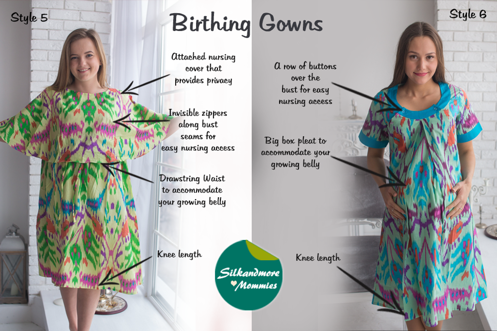 Aztec Pattern Birthing Gowns - Robes by silkandmore
