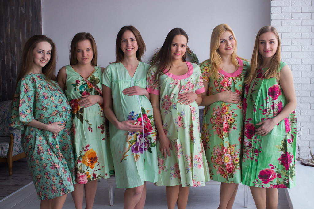 Mint Birthing Gowns - Robes by silkandmore