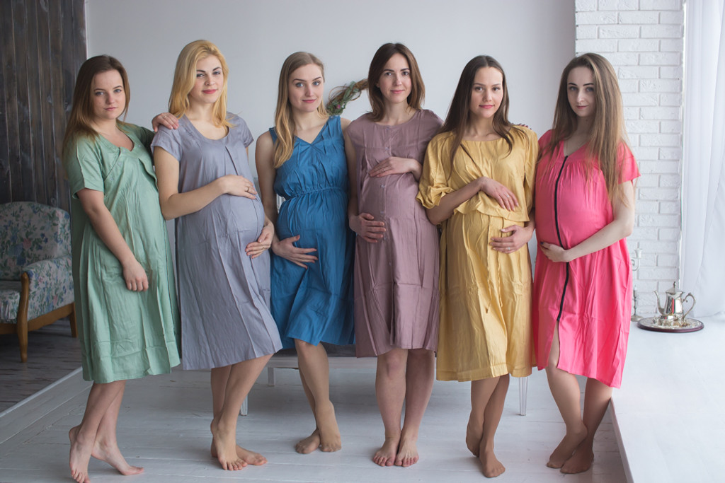 Dusty Pastel Floral Birthing Gowns - Robes by silkandmore