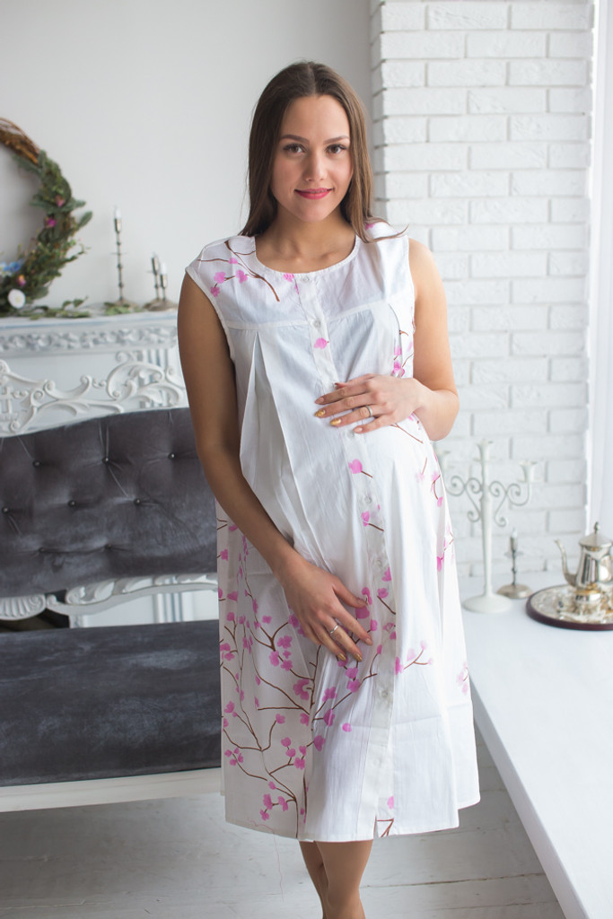 White Birthing Gowns