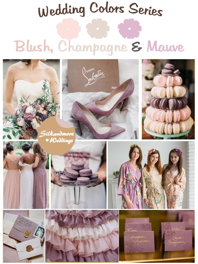 Blush Champagne And Mauve Wedding Color Palette