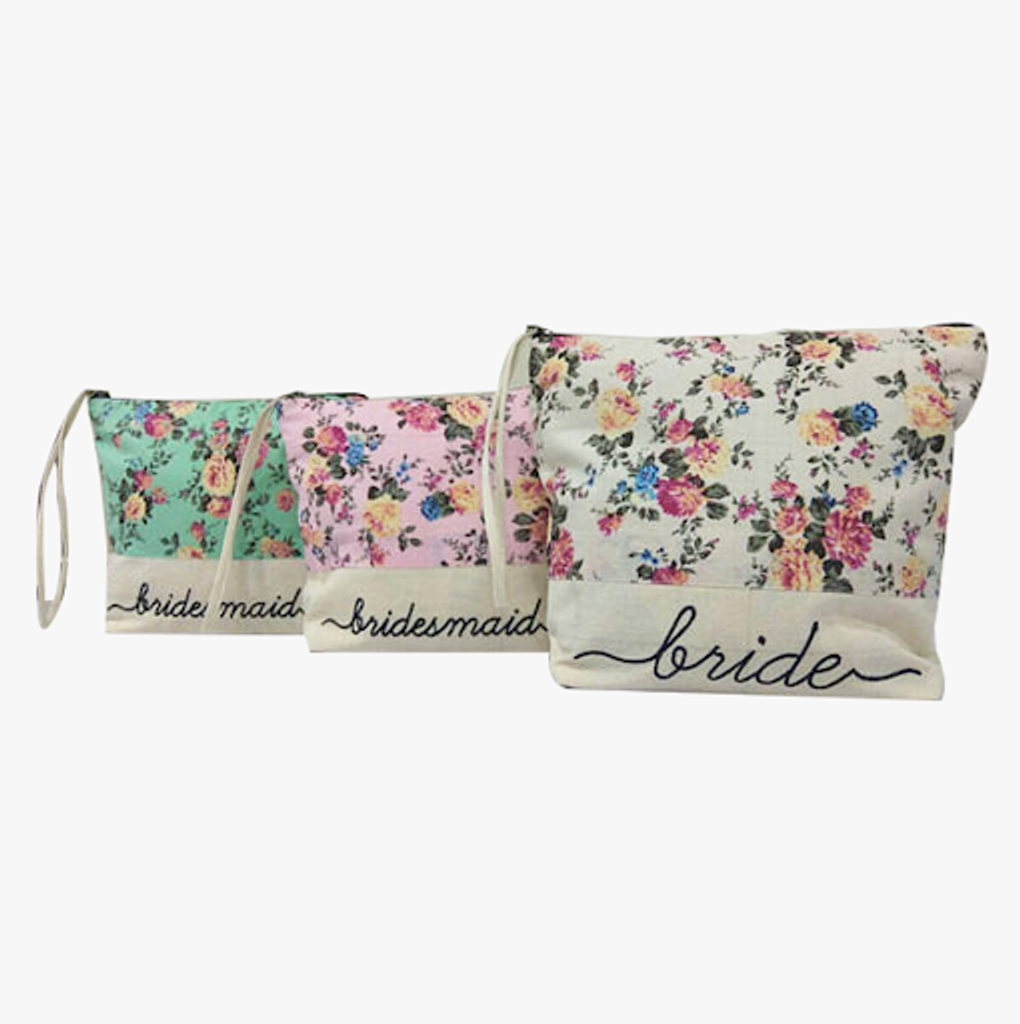 Floral Bridesmaids Cosmetic bags