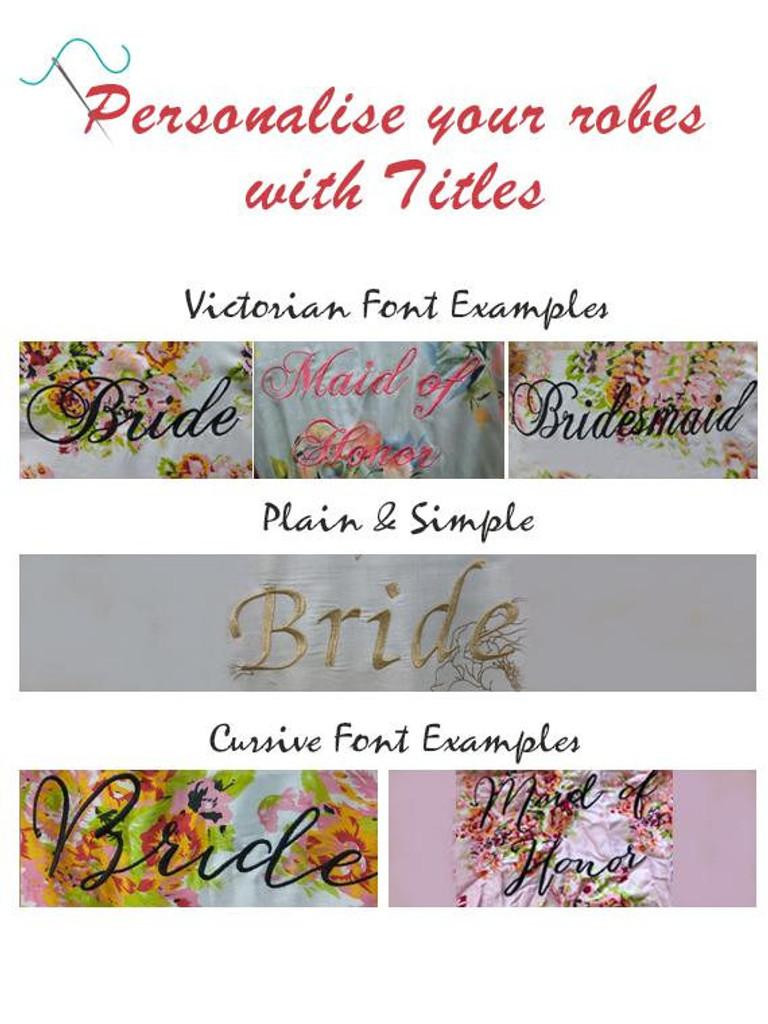 Custom Bridesmaid Floral Handkerchief
