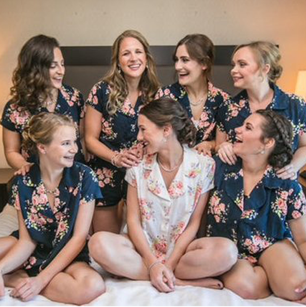 bride and bridesmaids pyjamas set