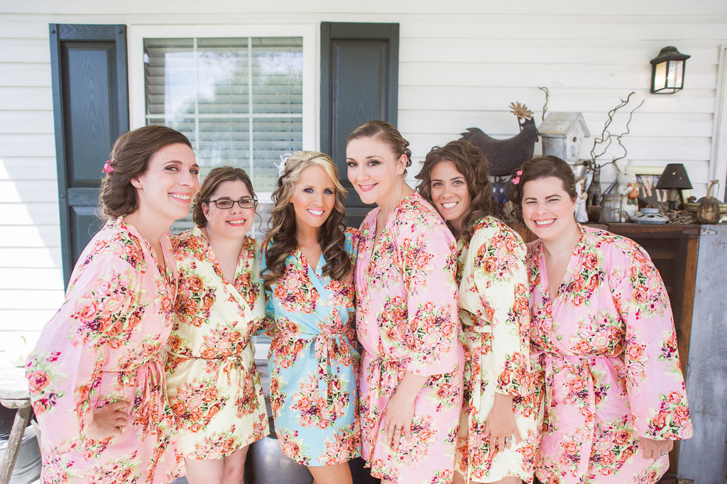 Mix Matched Pastel Shabby Chic Floral Posy Robes - Robes by silkandmore