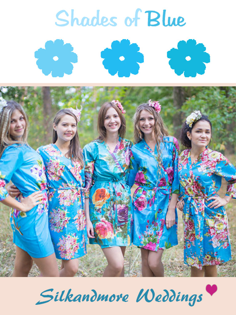 Assorted Blues | SilkandMore Robes