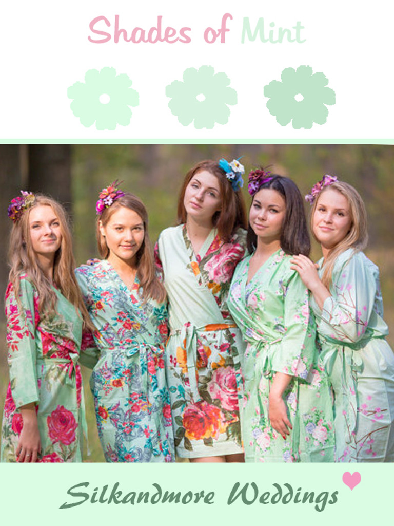 Assorted Mint Robes   SilkandMore Robes