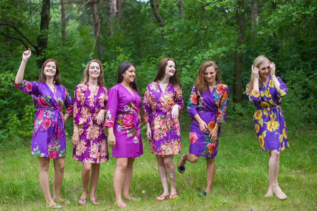 Assorted Purples | SilkandMore Robes