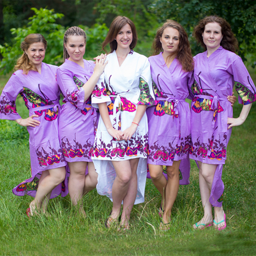 Big Butterfly High Low Bridesmaids Robes