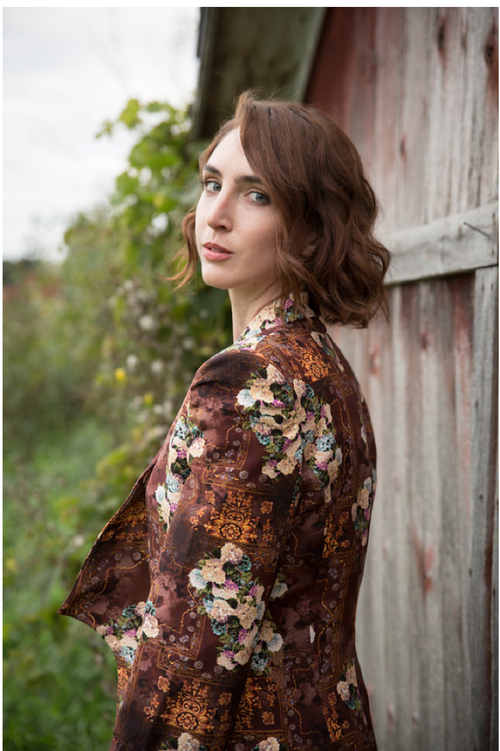 Blooming Brown Bridesmaids Floral Suit for a Winter Wedding