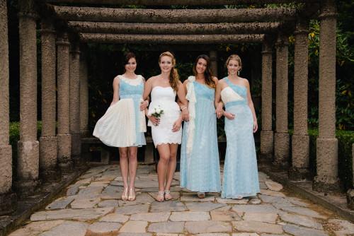Dreamy Turquoise Wedding Palette Bridesmaids Dresses