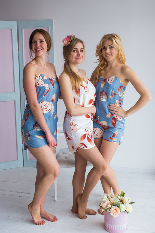 Strapless Style Rompers in a rumor among fairies Pattern