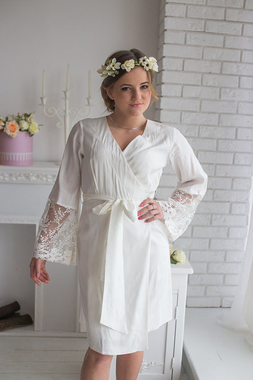 Lace Trimmed Robe from my Paris Inspirations Collection - Leafy Lace Cuffs