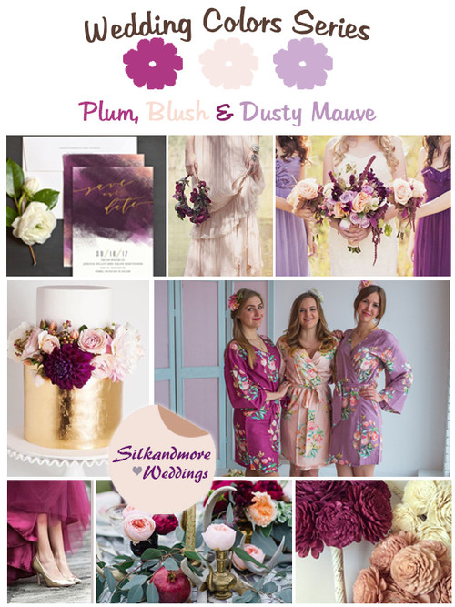 Plum, Blush and Dusty Mauve Wedding Color Palette