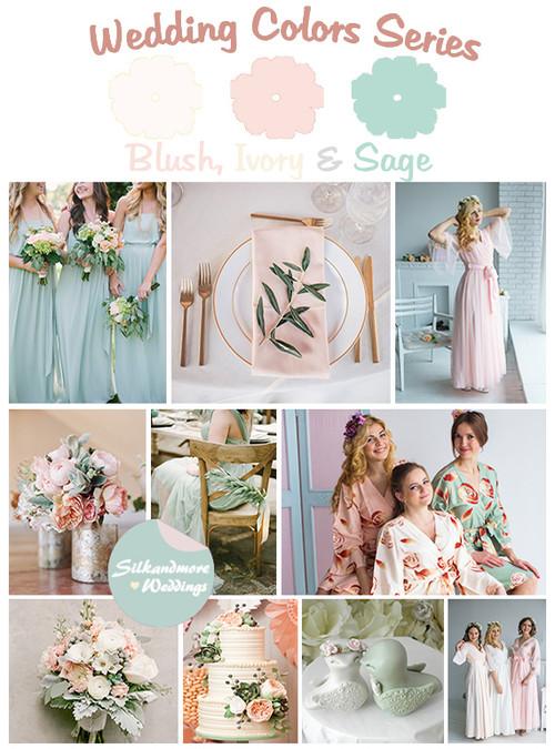 Blush, Ivory and Sage Wedding Color Palette