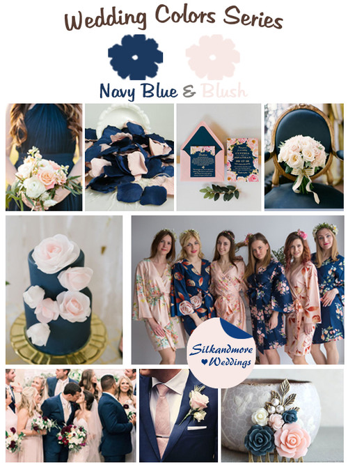 Navy Blue and Blush Wedding Color Palette