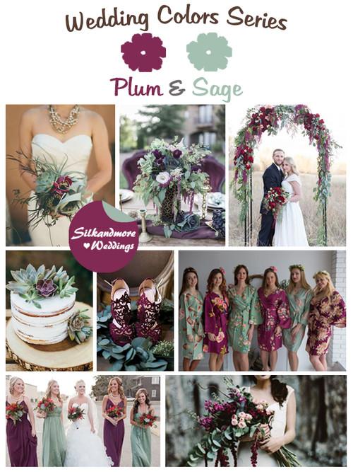Plum and Sage Wedding Color Palette