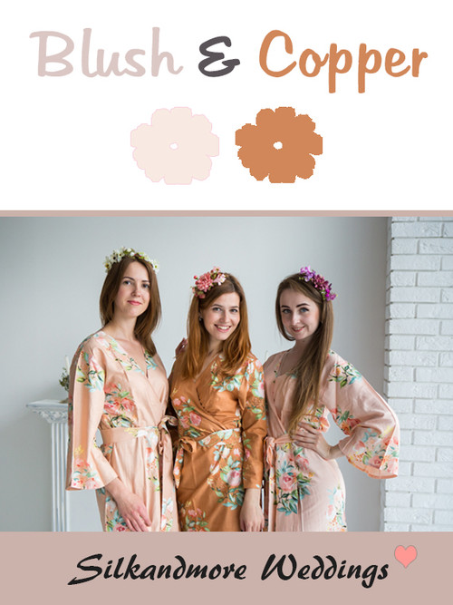 Blush and Copper Color Robes - Premium Rayon Collection