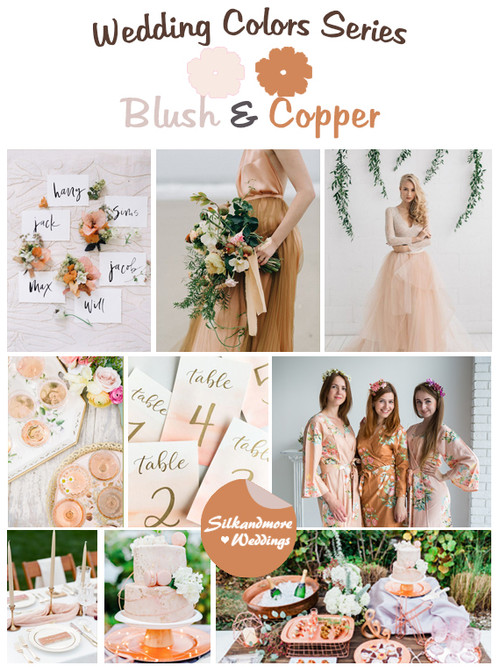 Mustard copper and rust wedding color palette robes by silkandmore blush and copper wedding color palette junglespirit Gallery