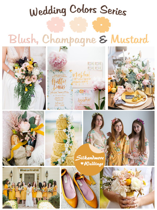 Blush, Champagne and Mustard Wedding Color Palette